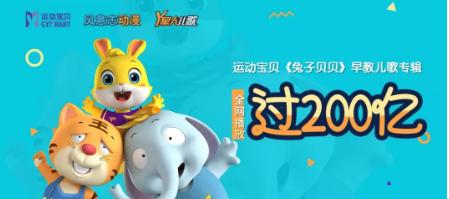 快去看运动宝贝《兔子贝贝》早教儿歌专辑,已突破200亿!
