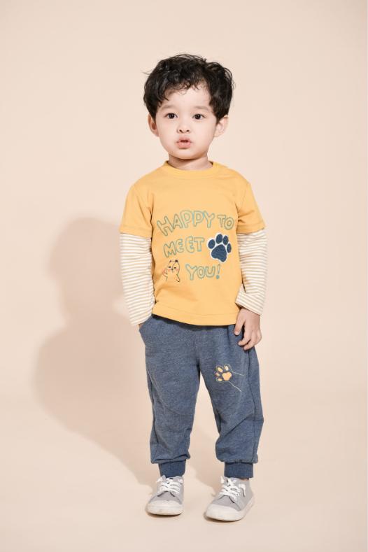 lafamilia拉珐童装男童长袖T恤2021春装新款