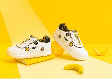 萌娃六一禮物 江博士這雙超可愛的小黃人款學步鞋不可錯過
