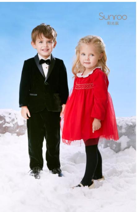 阳光鼠童装|华丽丝绒礼服,每一款都喜欢!