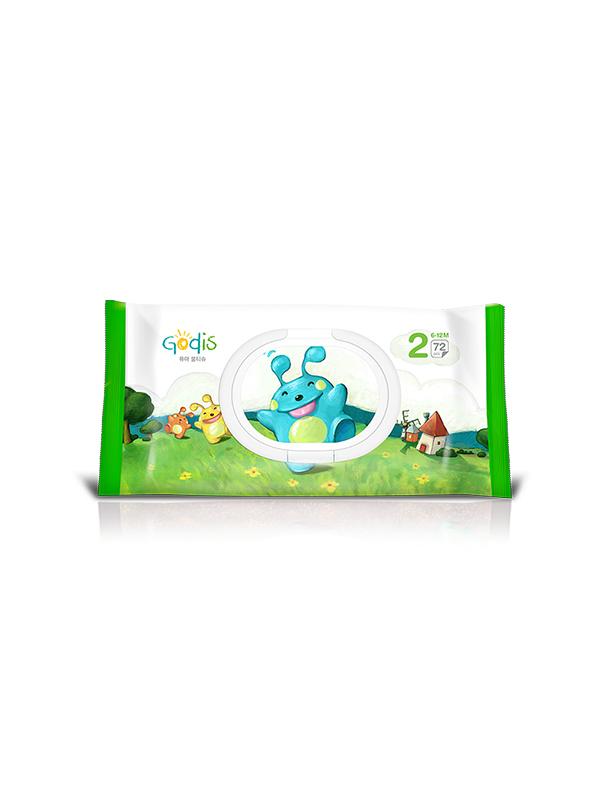 godis品牌嬰幼兒分段濕巾